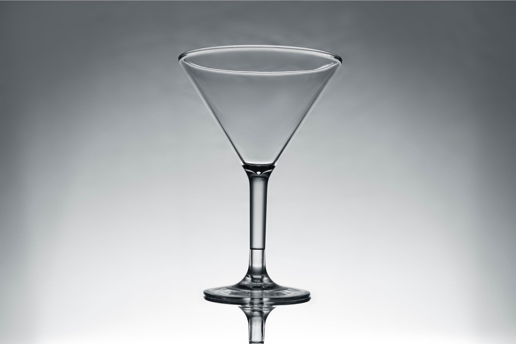 műanyag martini koktél pohár - törhetetlen műanyag pohár